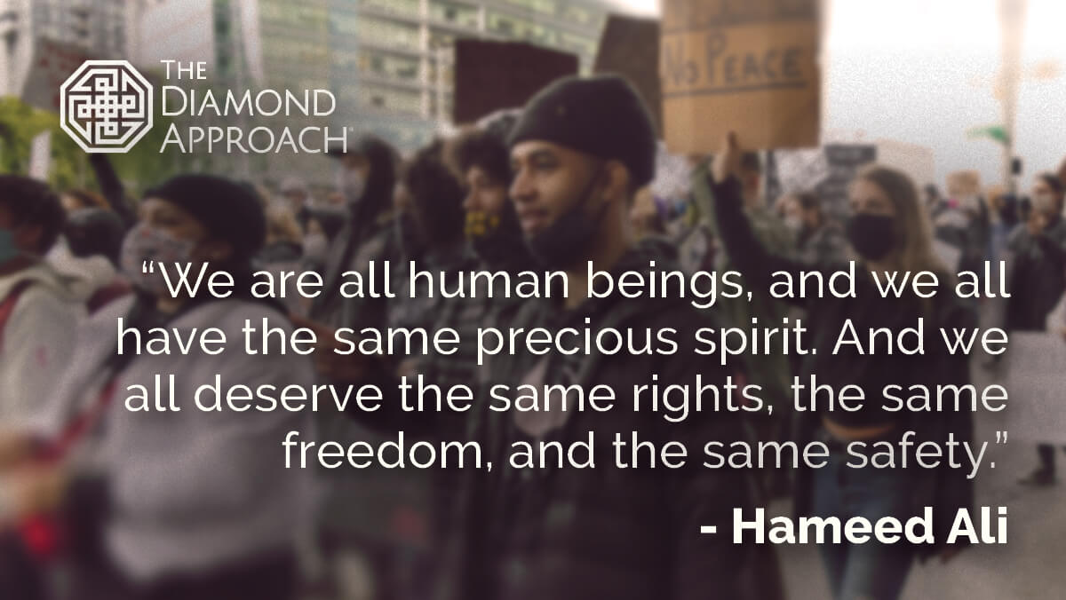 We are all human beings, and we all have the same precious spirit. And we all deserve the same rights, the same freedom, and the same safety.